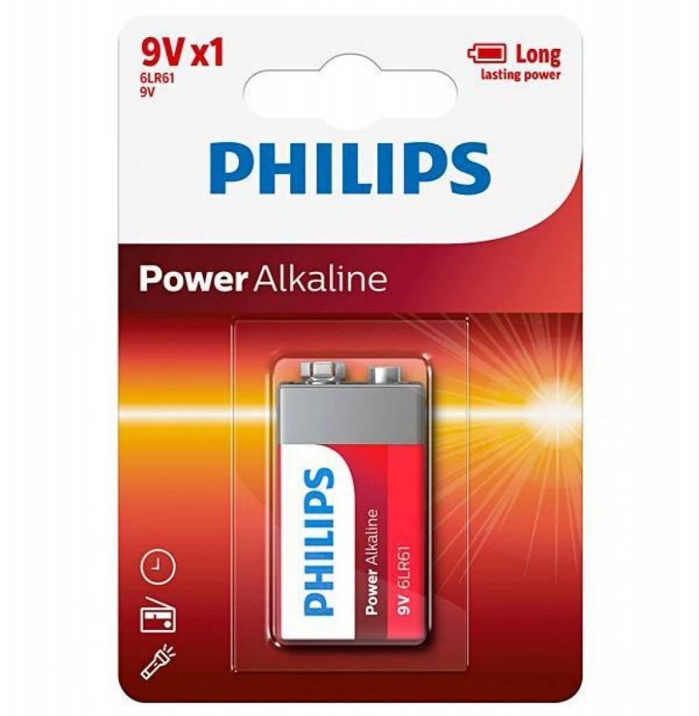 Bateria Philips 9V 6LR-61P1B Alcalina