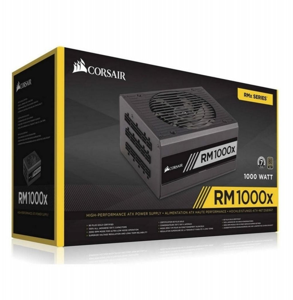 Fonte1000W Corsair RM1000X GOLD 80 PLUS