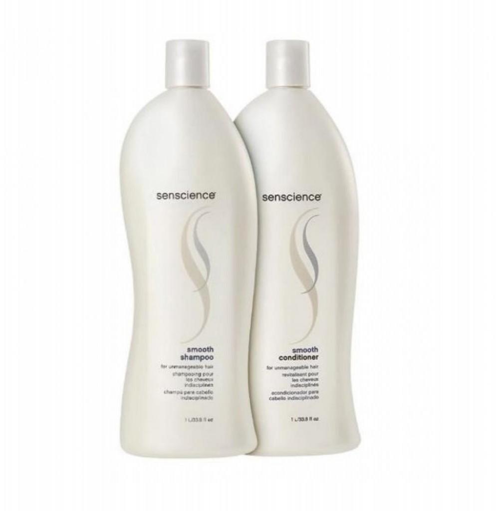 Kit Senscience Shampoo + Condicionador Smooth 1 Litro