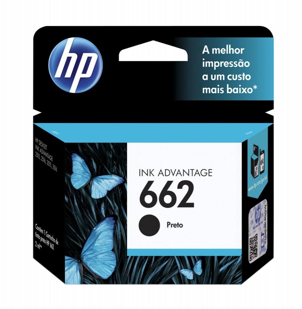 Cartucho HP (662) Z103AL Preto