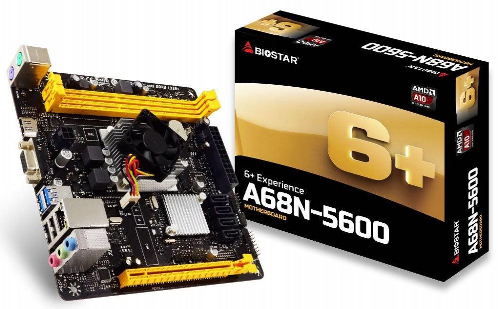 Placa-Mãe + Processador Biostar A68N-5600E ITX AMD Quad Core A4