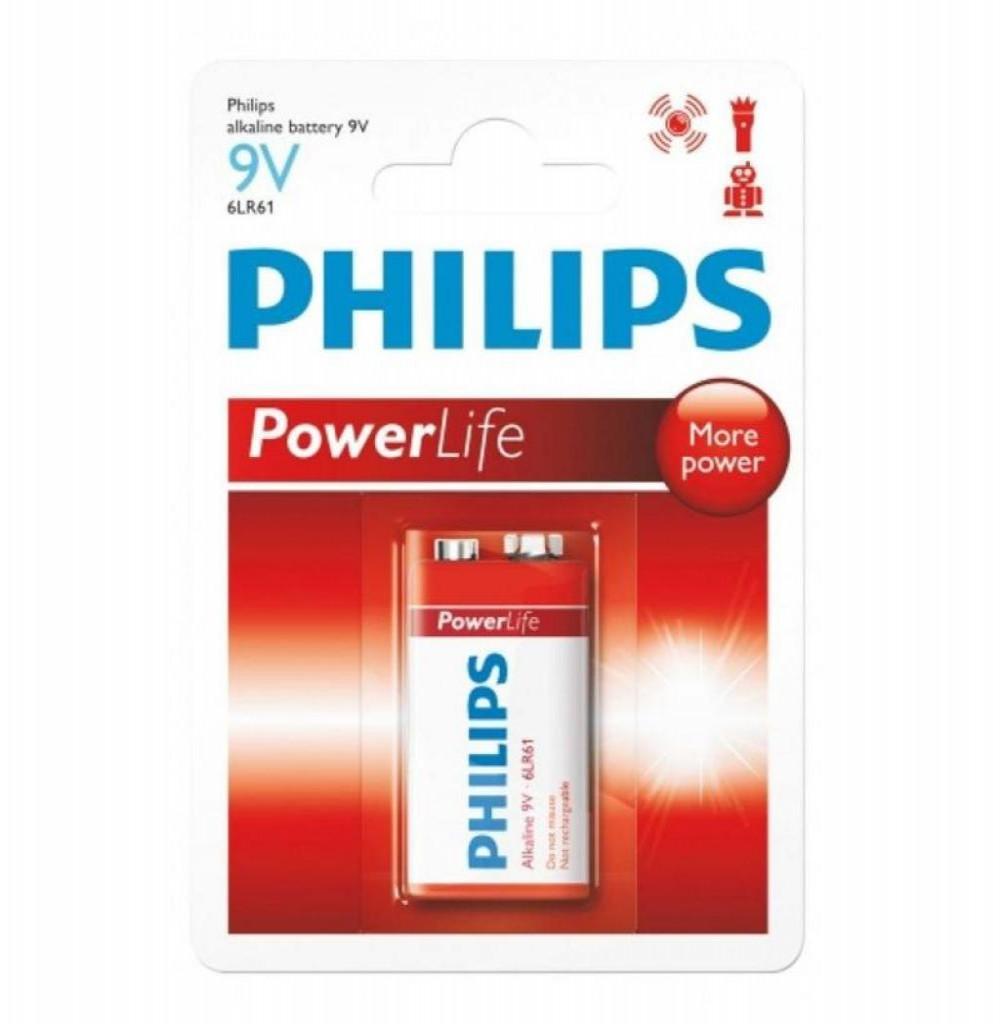 Bateria Alkalina Philips 9V