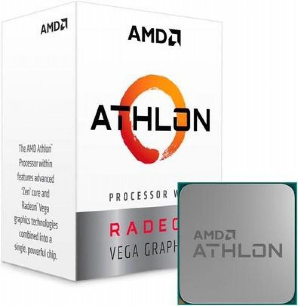 Processador CPU AMD AM4 ATLHON 3000G VEGA 3.5GHZ 4MB