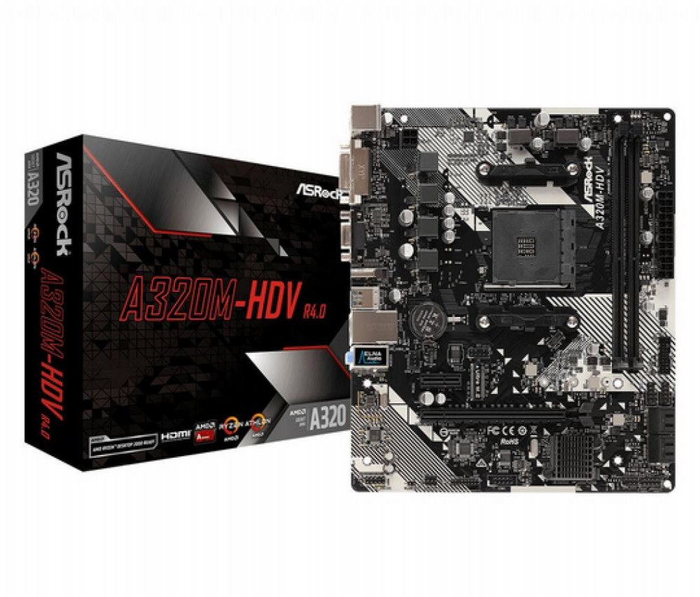 Placa-Mãe AMD (AM4) AsRock A320M-HDV R4.0