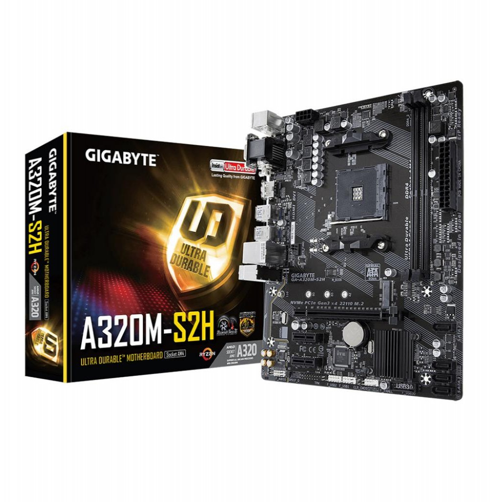 Placa Mãe Gigabyte A320M-S2H AMD Soquete AM4 MB