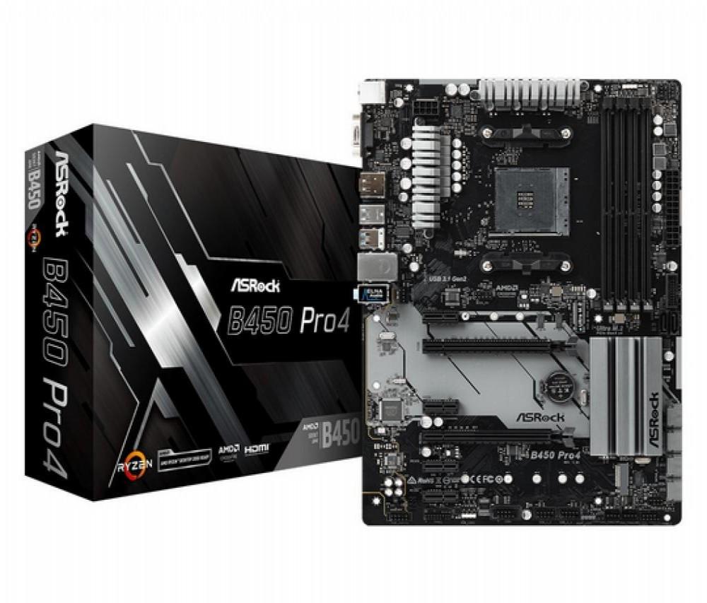 Placa-Mãe AMD (AM4) AsRock B450 PRO4