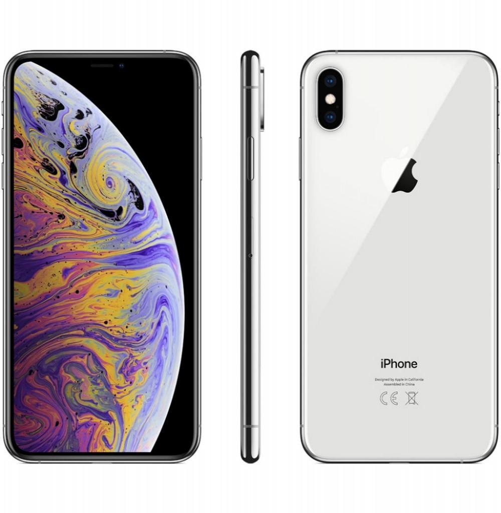 """Apple iPhone Xs Max A2101 256GB Super Retina OLED de 6.5"""" 12MP/7MP iOS - Prata"""