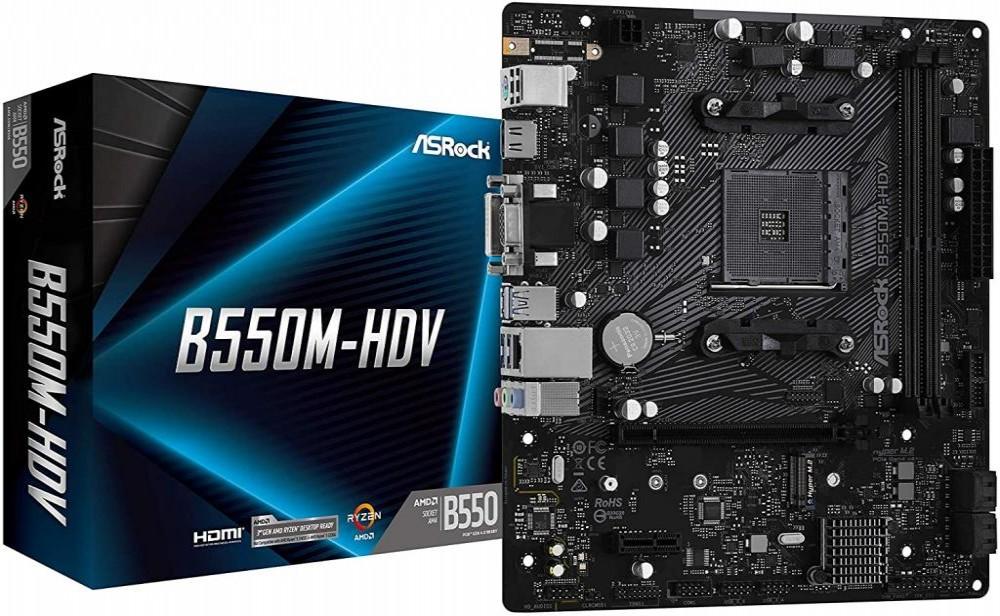 Placa Mãe Asrock B550M-HDV AMD (AM4)  MB