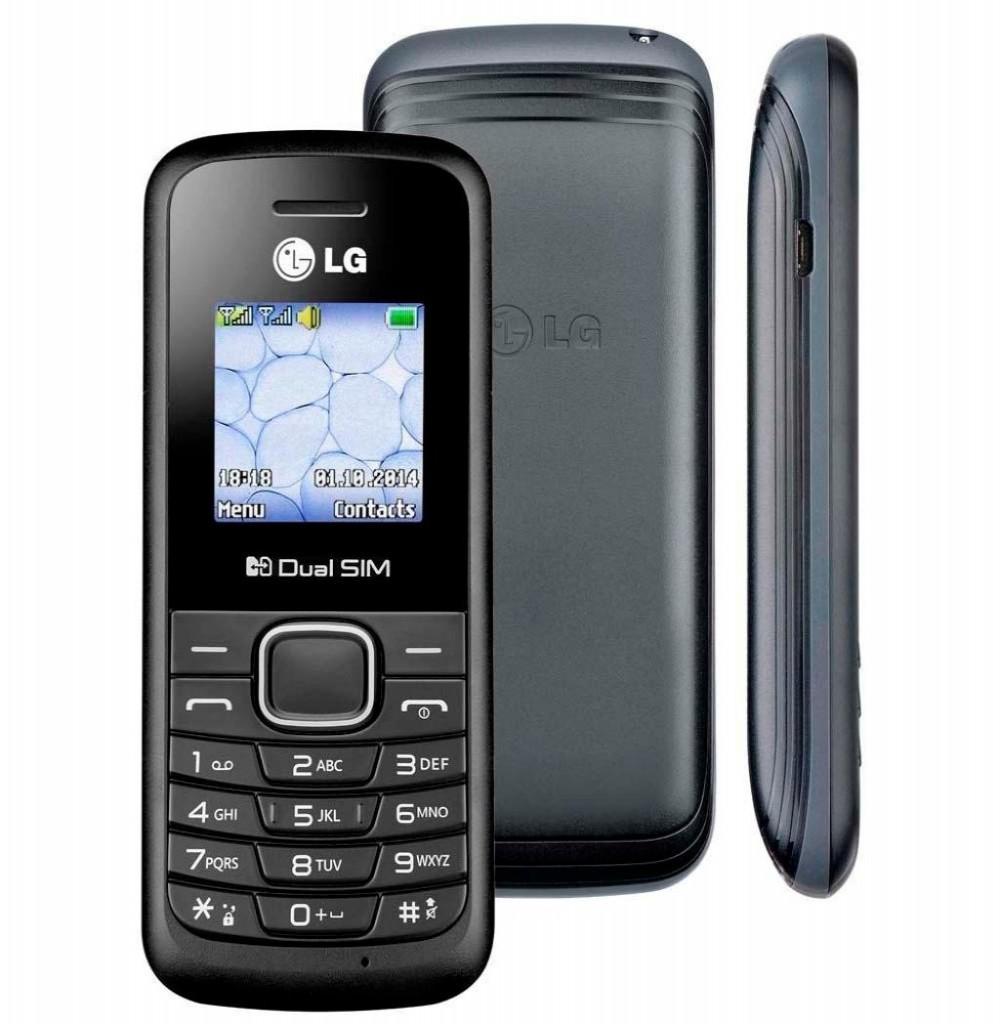 """Celular LG B220 Dual SIM 32MB Tela de 1.45"""" - Preto Portugués"""